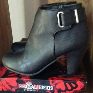 Fergalicious Black Leather Booties